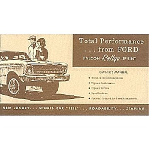 service manual download car manuals 1967 ford falcon parental controls service manual old 1964 sprint owners manual supplements