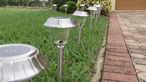 qvc outdoor solar lights solar powered bollard lights landscape solar led