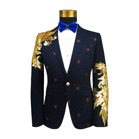 gold pattern blazer best 2018 mens floral blazer luxury pilaeo