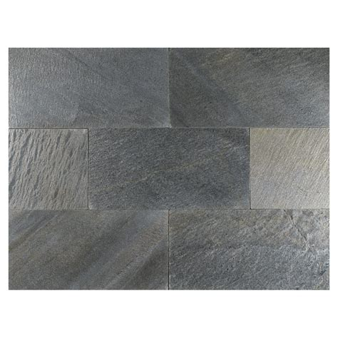 silver grey honed slate tile