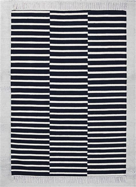 black and white stripe rug stripes decor by color