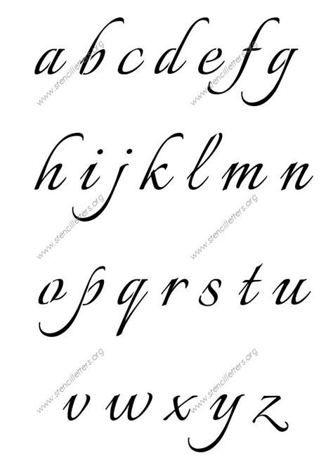 printable letters in calligraphy connected calligraphy a to z lowercase letter stencils