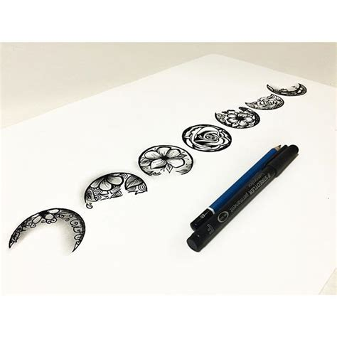 phases of moon tattoo best 25 moon phase ideas on temporary