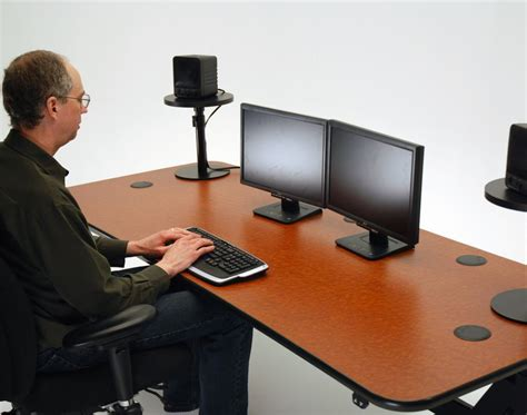 Ergo Music Height Adjustable Music Production Desk Speaker Stands Desk