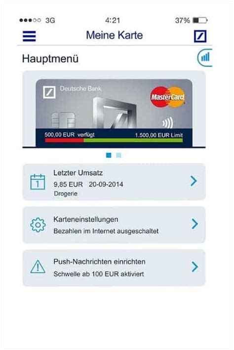 meine db bank deutsche bank startet security app quot meine karte quot 183 it