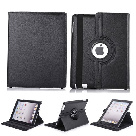 2 3 4 360 Rotating Leather Smart 360 rotating new leather smart stand cover for 2