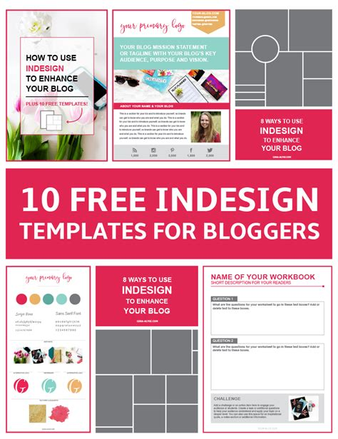 indesign templates bloggers content