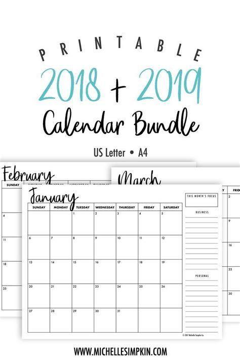 printable calendar bundle  bundle includes     mon monthly