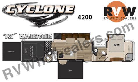 cyclone 4200 floor plan 2016 heartland rv cyclone 4200 toy hauler fifth wheel