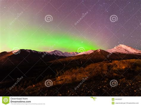 anchorage alaska northern lights northern lights stock image image of clear green