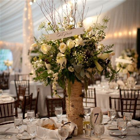 birch branches wedding centerpieces   Birch Bark Vase