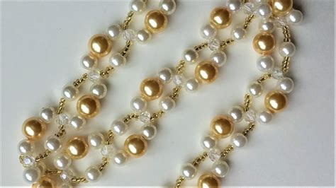 simple beading projects for beginners diy pearl bracelet necklace easy beading pattern for