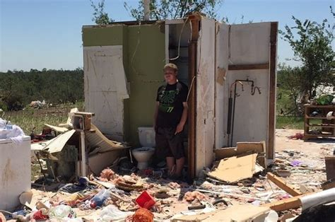 bathtub tornado shelter this teen survived a tornado that destroyed his home by