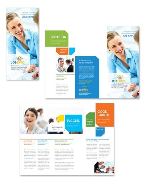 career brochure template career fair tri fold brochure template
