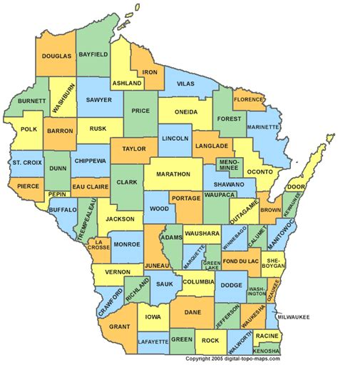 wisconsin counties map wisconsin county map wi counties map of wisconsin