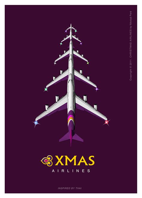 christmas airlines postcard series on behance