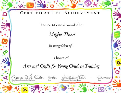 Child Certificate Template template for childrens certificate new calendar template