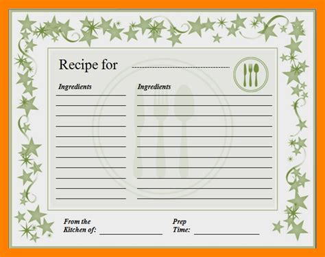 standard recipe card template tafe 9 recipe card template for word essay checklist