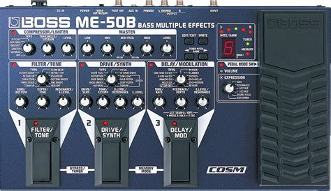 Unit Me 50 B Bass me 50b bass effects pedal with cosm new