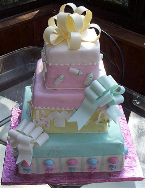 tiered baby shower cakes baby shower cake as tiered presents