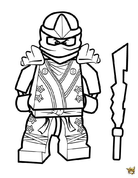 ninjago coloring pages skylar cool kai est un coloriage de ninjago