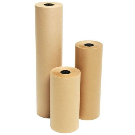 Brown Craft Paper Rolls - strong brown 70gsm 900mm kraft wrapping paper on a roll