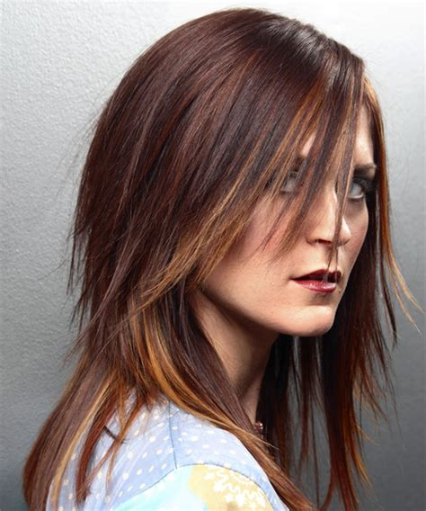 haircut for long hair with flicks long straight alternative hairstyle medium brunette