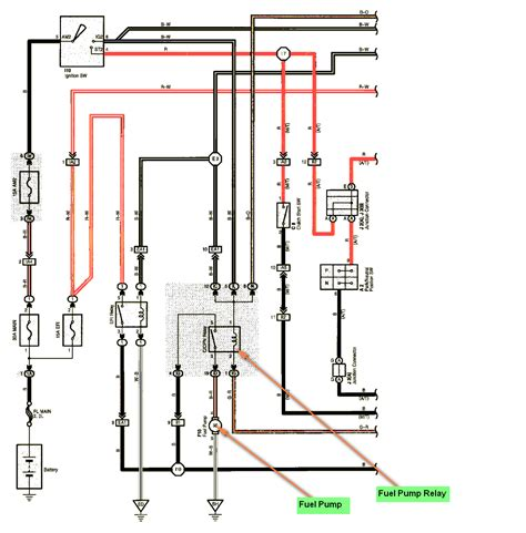 where is the fuel relay located in a toyota corolla 2003