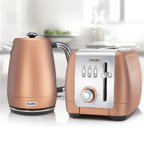 rose gold appliances strata luminere jug kettle and 2 slice toaster set rose