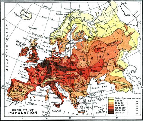population density map of europe
