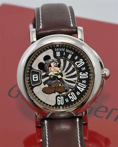 gerald genta 41mm retro quot mickey mouse aviator quot in