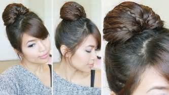 bebexo hairstyle braided fan bun updo hairstyle for medium long hair