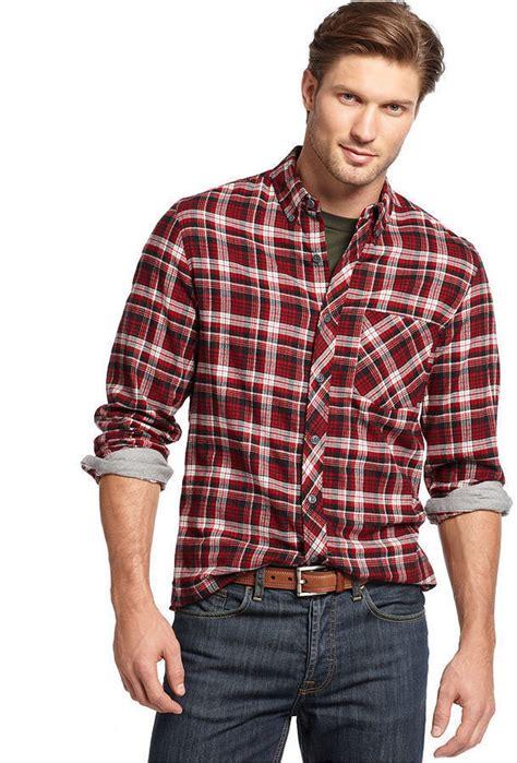 Kemeja Pria Branded Polo Club Original Slim Fit Mre010 club room shirt slim fit sleeve brushed cotton plaid