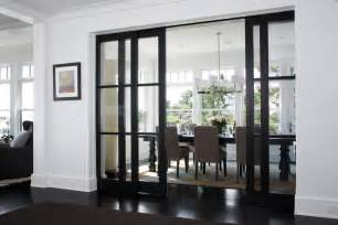 Dining Room Doors Glass Door Knobs Lowes Transitional Style For Dining Room With View By Lda Architecture