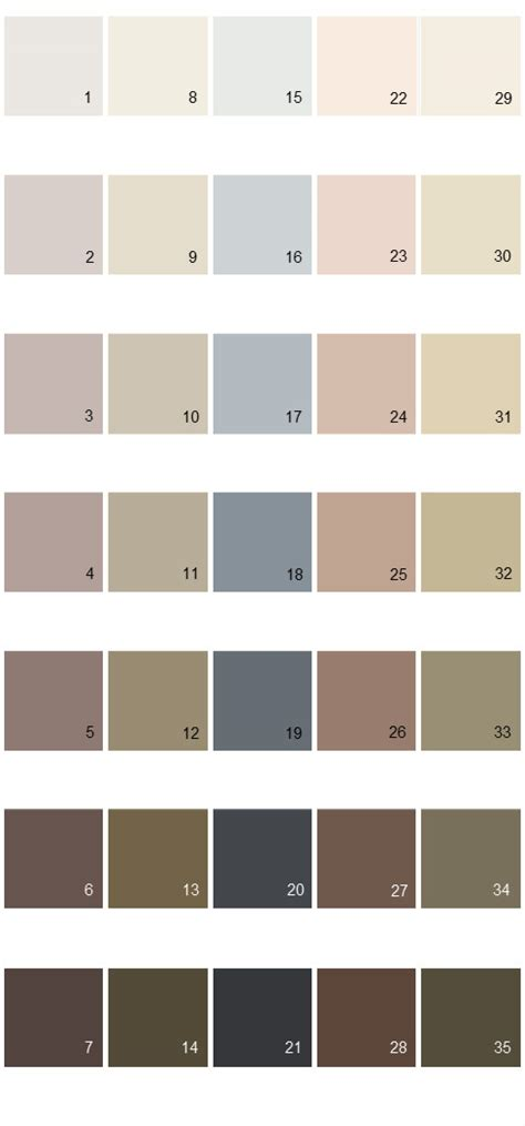 behr paint colors colorsmart palette 40 house paint colors
