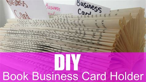 Diy Mba Books by Diy Book Business Card Holder