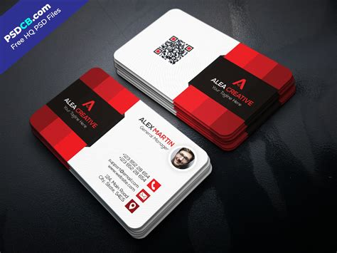 business card template for free modern business card template psd set