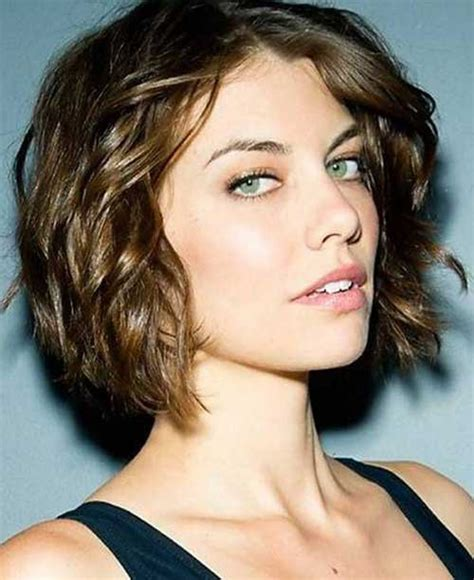 short hair styles for wavy hair long faces and over 40 15 popular short curly hairstyles for round faces short