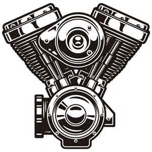 Harley Davidson Wall Stickers wall stickers engine v harley davidson