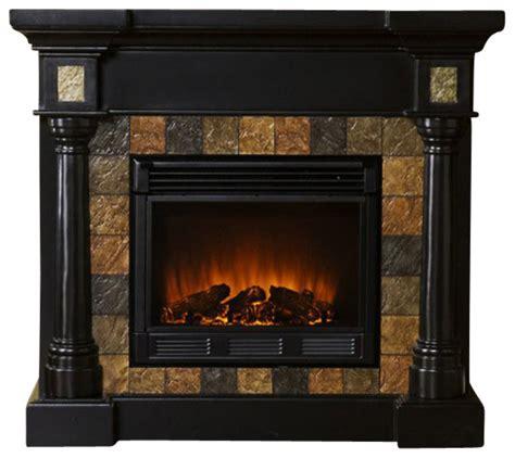 sei faux slate convertible electric fireplace