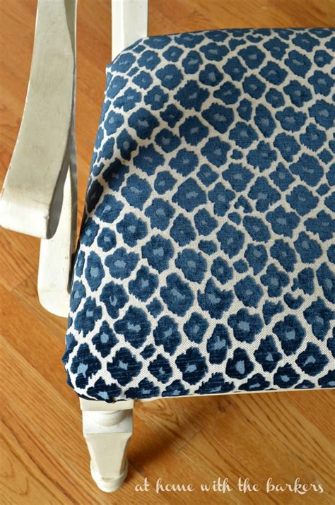 Fabric To Recover How To Recover Kitchen Chairs At Home With The Barkers