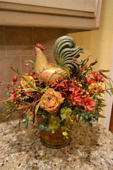 Colorful Rooster Arrangement   Home Decor   Pinterest