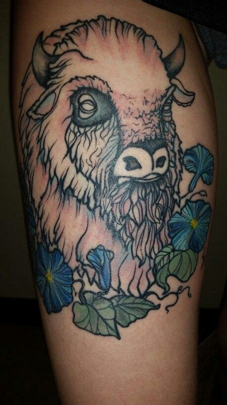 white buffalo tattoo shop white buffalo with water color morning glories by