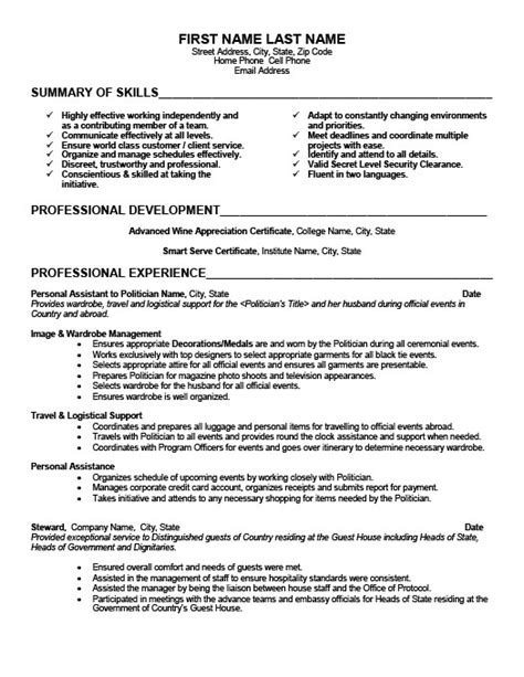 Assistant Resume Exles Personal Assistant Resume Sle The Best Letter Sle