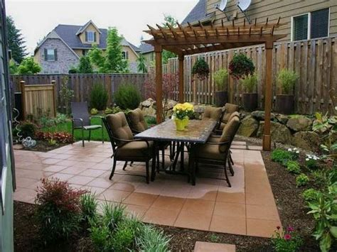 small backyard pergola ideas decor tips outdoor dining set and patio pavers with