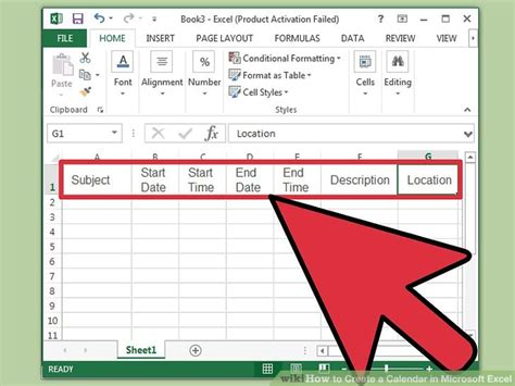 how to make a calendar with excel how to create a calendar in microsoft excel with pictures