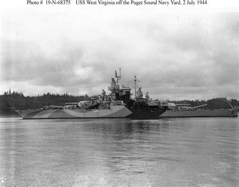 West Virgina Search File Uss West Virgina Post Reconstruction July 1944 Jpg
