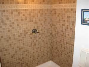 big construction mosaic tile shower