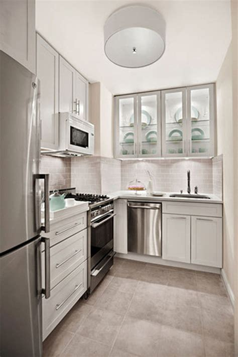 Small Kitchen With White Cabinets Modern Small White Kitchens Decoration Ideas