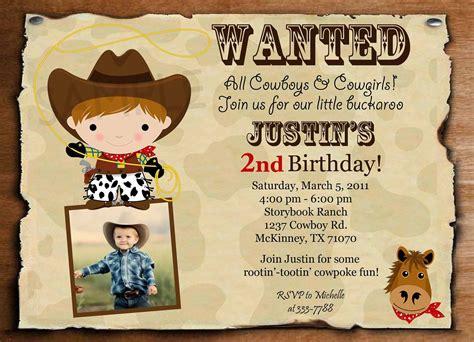 Cowboy Invitation Templates Cowboy Invitations Template Free